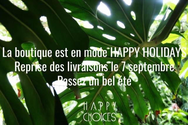 happy holidays avec logo