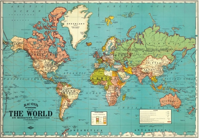 affiche-carte-du-monde-vintage-the-world-bleue-cavallini